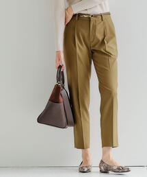 [ 洗濯可能 ] ◆D TR タック ベルト パンツ