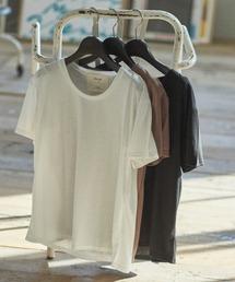 UネックTシャツホワイト