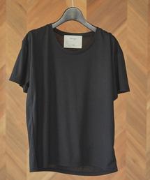 UネックTシャツブラック
