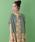 Jocomomola(ホコモモラ)の「パフスリーブ半袖カーディガン(カーディガン)」|ライトブルー