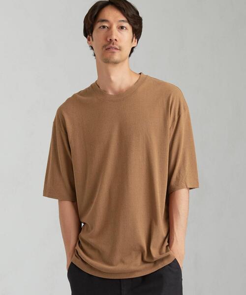 SC ☆ シルク ノイル クルーネック 半袖 Tシャツ カットソー