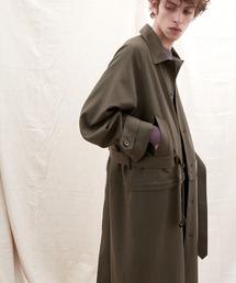 2WAY TRストレッチオーバーサイズ ラグラン スプリングステンカラートレンチコート【EMMA CLOTHES/エマクローズ】 2021 S/Sブラウン系その他