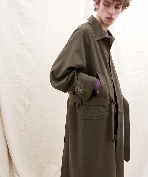 2WAY TRストレッチオーバーサイズ ラグラン スプリングステンカラートレンチコート【EMMA CLOTHES/エマクローズ】 2021 SPRING