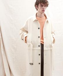 2WAY TRストレッチオーバーサイズ ラグラン スプリングステンカラートレンチコート【EMMA CLOTHES/エマクローズ】 2021 S/Sアイボリー