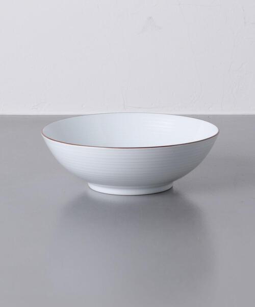 <白山陶器> ラーメン鉢 白磁千段