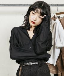 MINELAL(ミネラル)の【MINELAL】Back slit BIG shirts(シャツ/ブラウス)