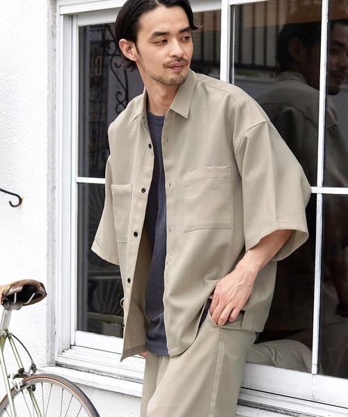 【セットアップ】テックリネン オーバーサイズ 半袖CPOシャツ&イージーシェフパンツ 2021SUMMER