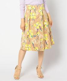 NOLLEY'S(ノーリーズ)のグログランフラワープリントスカート(スカート)