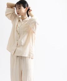 【 cocociLDK / ココチエルディーケー 】レディースガーゼパジャマ TOB 24-802715012ベージュ
