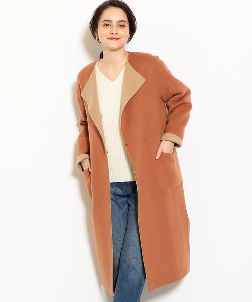 ◆KFC リバー ノーカラー コート