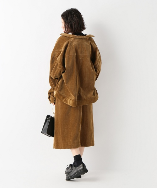 【08 SIRCUS/08サーカス】コーデュロイオーバーサイズジャケット