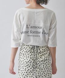 MAISON DE REEFUR(メゾンドリーファー)のバック プリント Tシャツ(Tシャツ/カットソー)