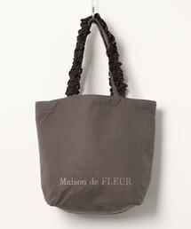 Maison de FLEUR(メゾンドフルール)のバスケットクロスフリルハンドルトートMバッグ(トートバッグ)