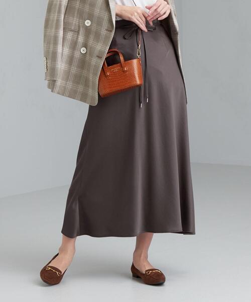 FFC サテン バイアス ナロー スカート