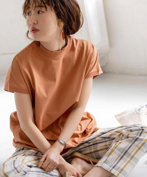 【14色展開リピT・WEB限定カラー】ハイネックTシャツ#(UVカット/吸水速乾/接触冷感/モックネック/ボーダーT)