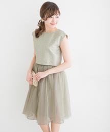 URBAN RESEARCH ROSSO WOMEN(アーバンリサーチ ロッソ)の3WAYチュチュ付ドレス(ドレス)