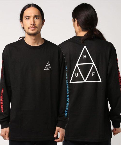 multi triple triangle ls tee huf ハフ ロングスリーブ tシャツ t