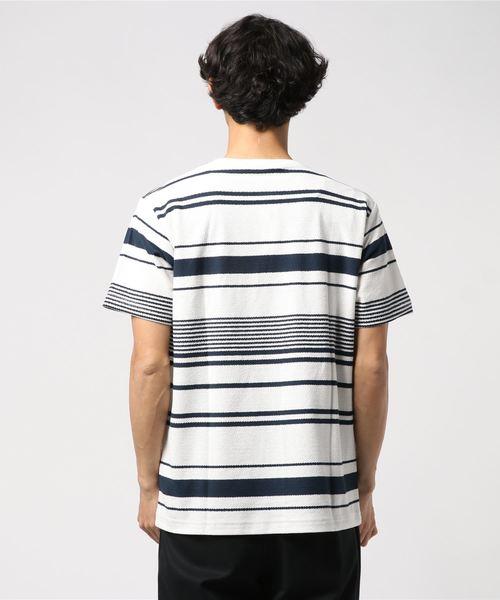梨地ボーダーTシャツ