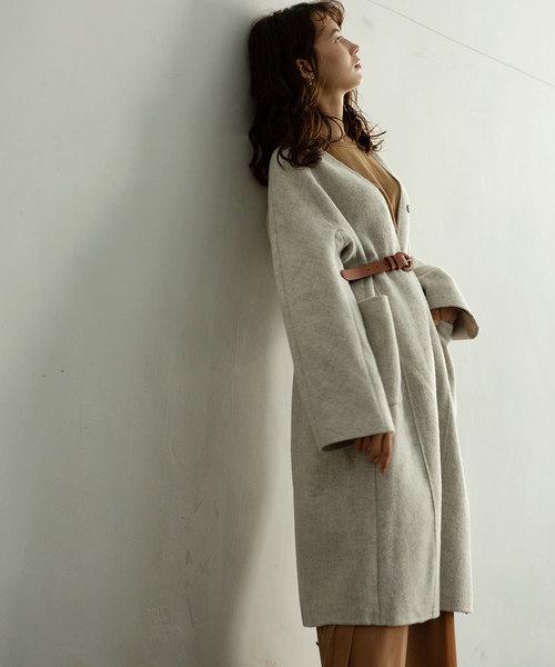 【セール 登場から人気沸騰】 AIRY LONG LONG COAT(ノーカラージャケット)|marjour(マージュール)のファッション通販, 彩り品:06d4ed32 --- kredo24.ru