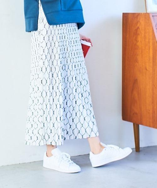 BOSCH(ボッシュ)の「【ウォッシャブル】ローププリントスカート(スカート)」|ホワイト系その他