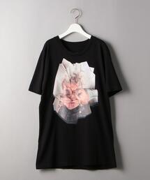 <MM6 Maison Margiela>フェイスプリントショートスリーブTシャツΨ