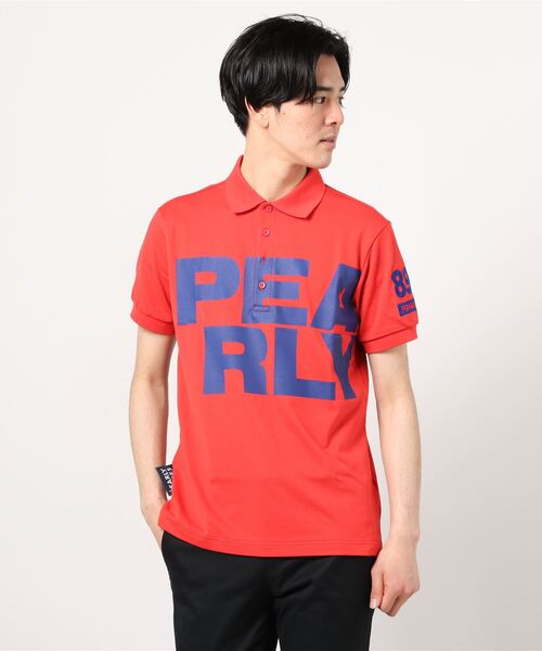 PEARLY GATES(パーリーゲイツ)の「ドライマスター カノコ 半袖 ポロシャツ(ポロシャツ)」|レッド