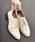 LibertyDoll(リバティードール)の「おじ靴、美脚マニッシュレースアップシューズ(ドレスシューズ)」|ベージュ系その他