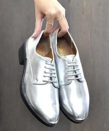 LibertyDoll(リバティードール)のおじ靴、美脚マニッシュレースアップシューズ(ドレスシューズ)