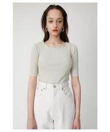 MOUSSY(マウジー)のSCALLOPED CUT TOP(Tシャツ/カットソー)