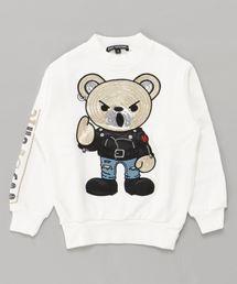 ROCKERS BEAR刺繍 スウェット【XS/S/M】アイボリー