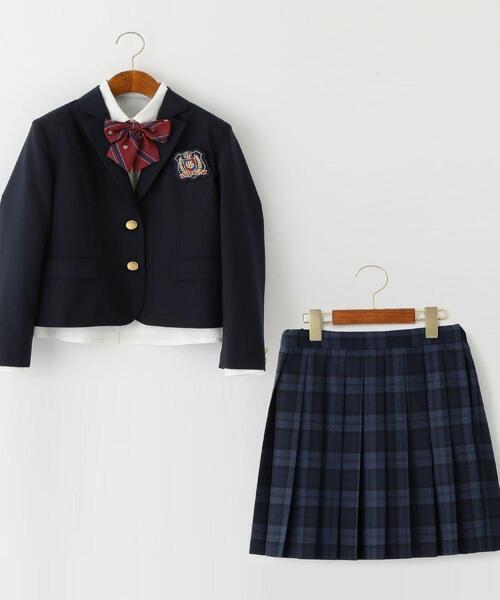 〔WEB限定〕ジャケット+スカート+ブラウス+リボンセット