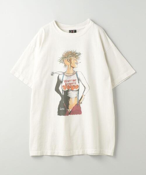 <SAINT M××××××(セント マイケル)> PUNK GIRL TEE/Tシャツ■■■