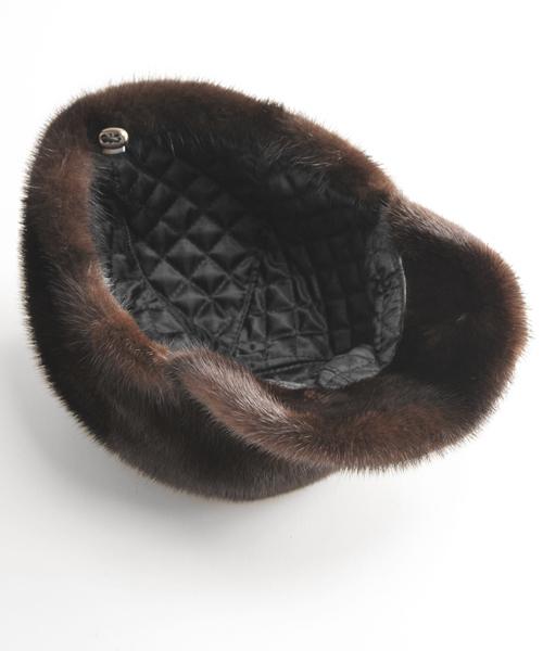 sankyo shokai(サンキョウショウカイ)の「ミンクファーキャスケット帽子(キャスケット)」|詳細画像