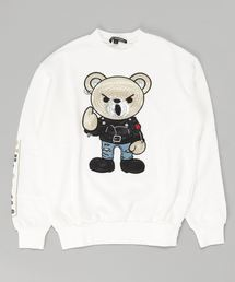 ROCKERS BEAR刺繍 スウェット【L】アイボリー