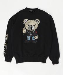 ROCKERS BEAR刺繍 スウェット【L】ブラック