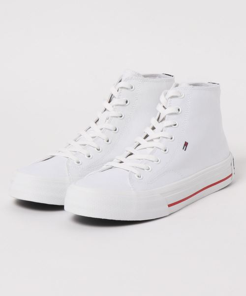 TOMMY JEANS(トミー ジーンズ)の「《TOMMY JEANS》CLASSIC_MID_TJ_SNEAKER(スニーカー)」|ホワイト