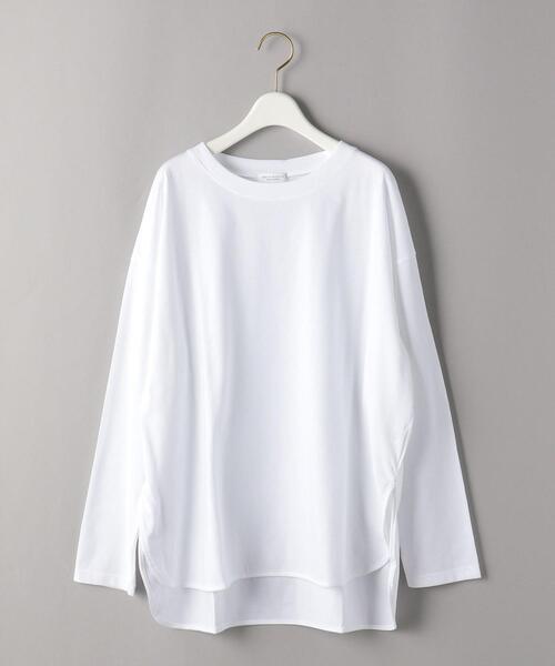 BEAUTY&YOUTH UNITED ARROWS(ビューティアンドユースユナイテッドアローズ)の「BY シャツテールロングスリーブカットソー(Tシャツ/カットソー)」 詳細画像
