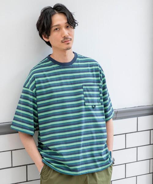 TCマルチボーダーTシャツ
