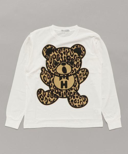 BEAR LEOPARD pt リブ付Tシャツ【L】