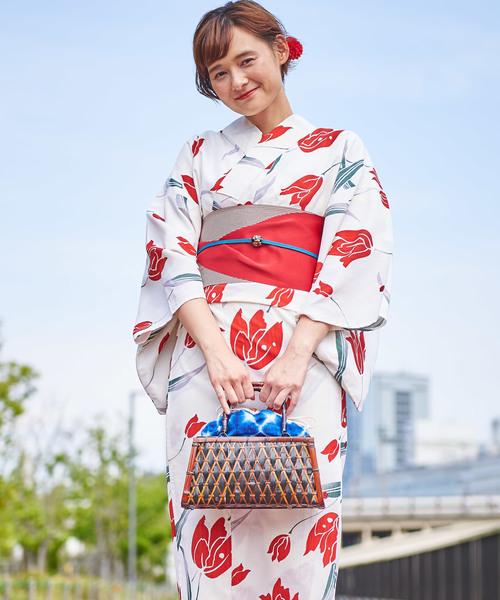 Tokyo135°(トウキョウヒャクサンジュウゴド)の「浴衣2点セット  Tokyo135° オリジナル浴衣+浴衣帯 レトロモダン(浴衣)」 その他7