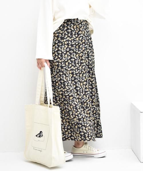 F・ボタン柄マーメイドスカート