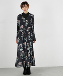 MOUSSY | CLEAR FLOWER LONG DRESS F(ワンピース)