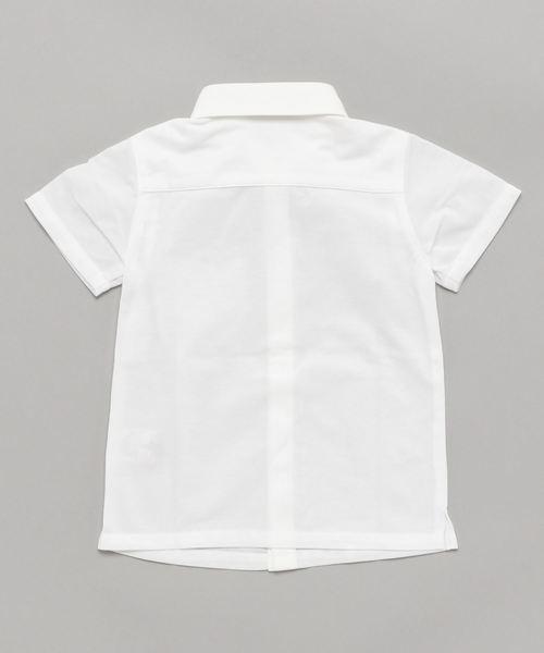 Tartine et Chocolat/蝶ネクタイ付きシャンブレーシャツ(110cm~130cm)