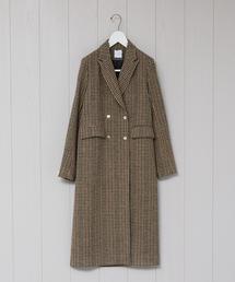 <ROSEanna>CHECK LONG COAT/コート.