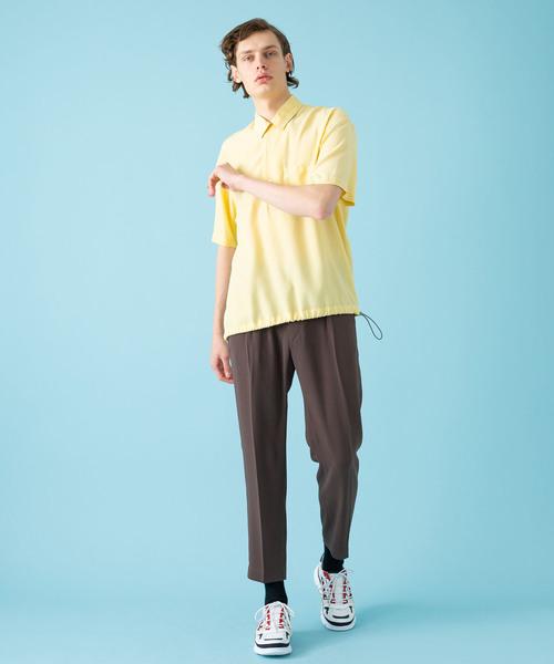 【soe】ハーフスリーブプルオーバーシャツ
