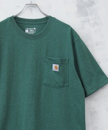 【Carhartt カーハート】ワンポイントロゴ ポケ付きTシャツ