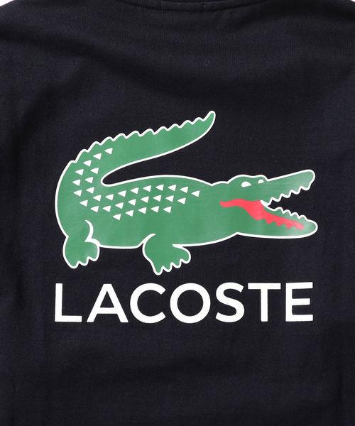 LACOSTE × BEAMS / 別注 ビッグ ワニ ロングスリーブ Tシャツ 19SS