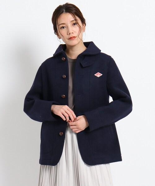 DANTON 丸襟ウールモッサジャケット