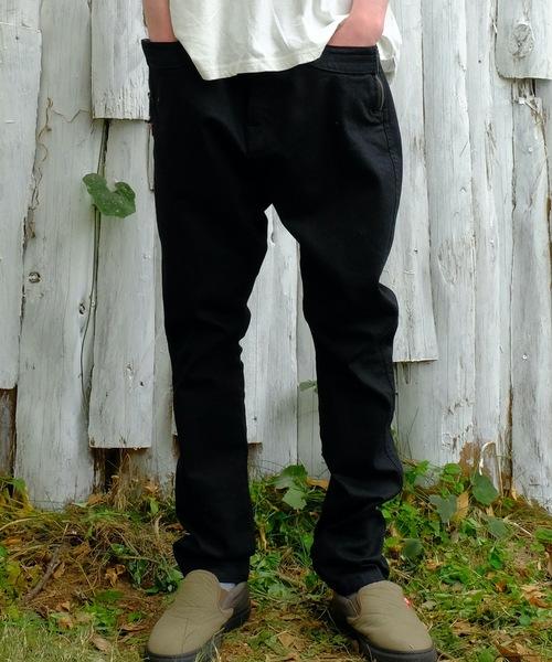 VIRGOwearworks(ヴァルゴウェアワークス)の「女神織DENIMES by VIRGOwearworks「Moses」(デニムパンツ)」 ブラック