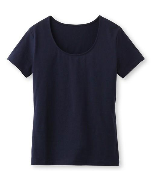 ◆【洗える】ペルヴィアンピマ UネックTシャツ